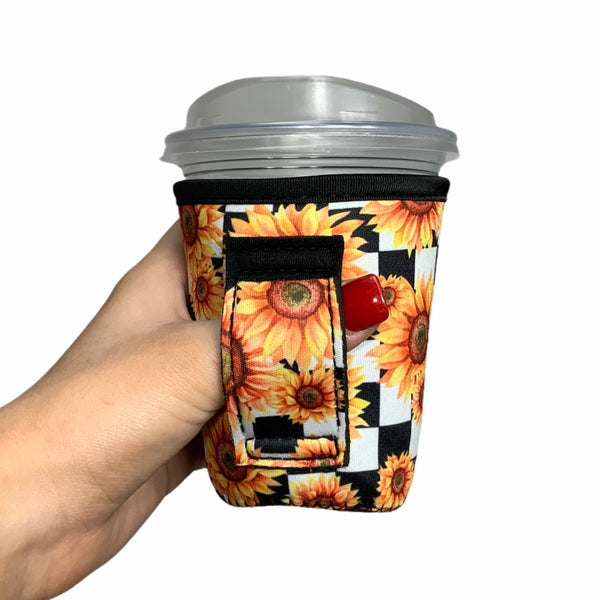 Sunflowers & Checkers 12oz Small/Tall Coffee Handler™