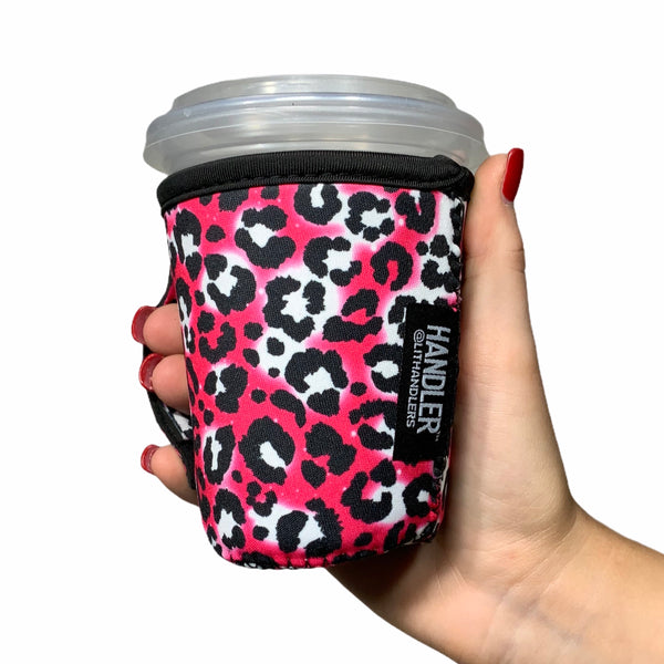 Hot Pink Leopard 12oz Small/Tall Coffee Handler™