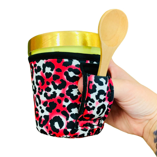 Hot Pink Leopard Pint Size Ice Cream Handler™