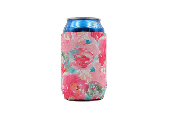 Summer Blooms 12oz Stubby Can Cooler