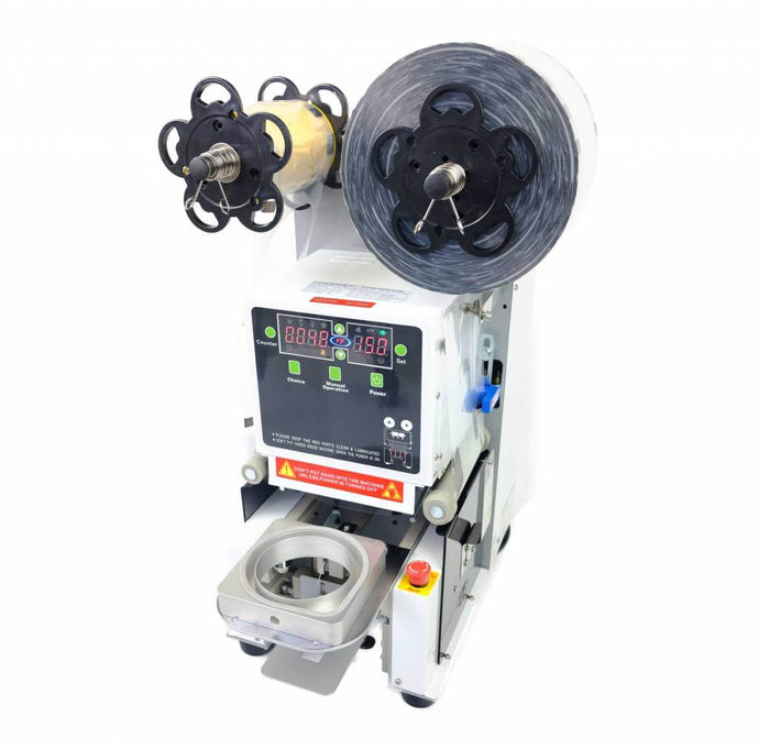 Cup Sealingmachine for bubble tea - with ripcorner