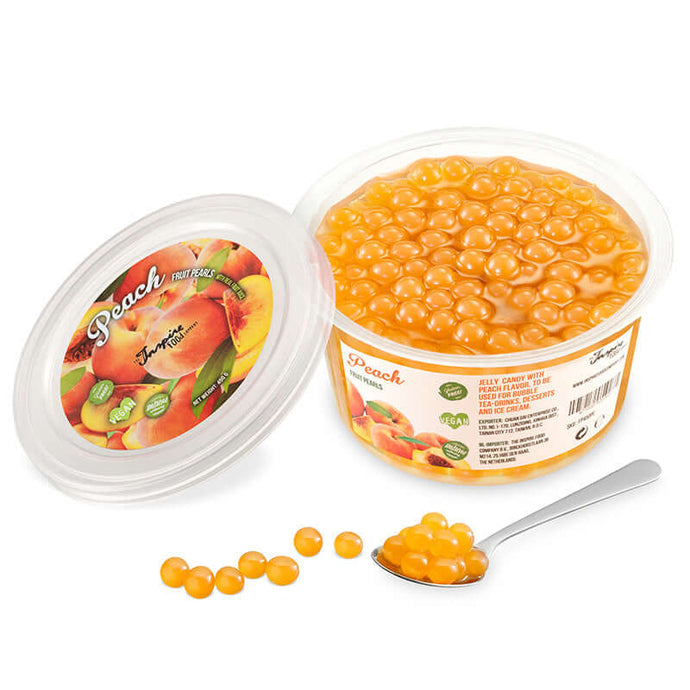 450gr cups Fruit pearls Peach