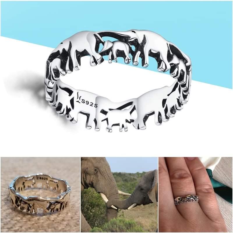 Elephant Family Ring - A Sign Of Love & Union!