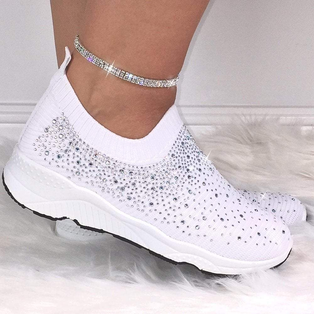 Easy Sneakers® Crystal Ladies Shoes!