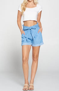 Indigo Shorts with belt