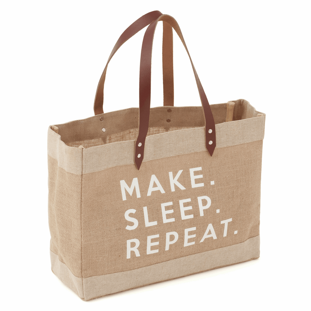 Craft Tote Bag: Make, Sleep, Repeat