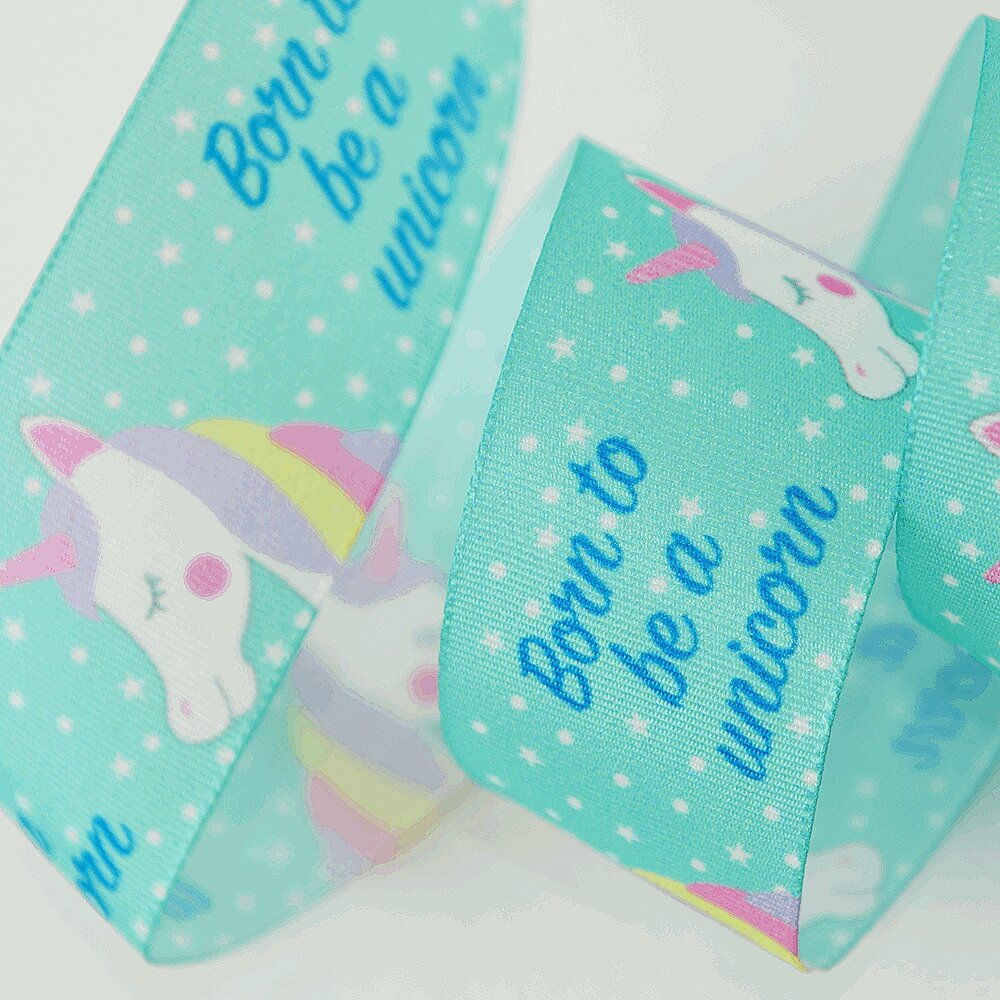 Born To Be A Unicorn Ribbon: Teal