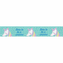 Load image into Gallery viewer, Born To Be A Unicorn Ribbon: Teal