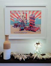Load image into Gallery viewer, Rising Fun Framed Art. Original Art By BYGO