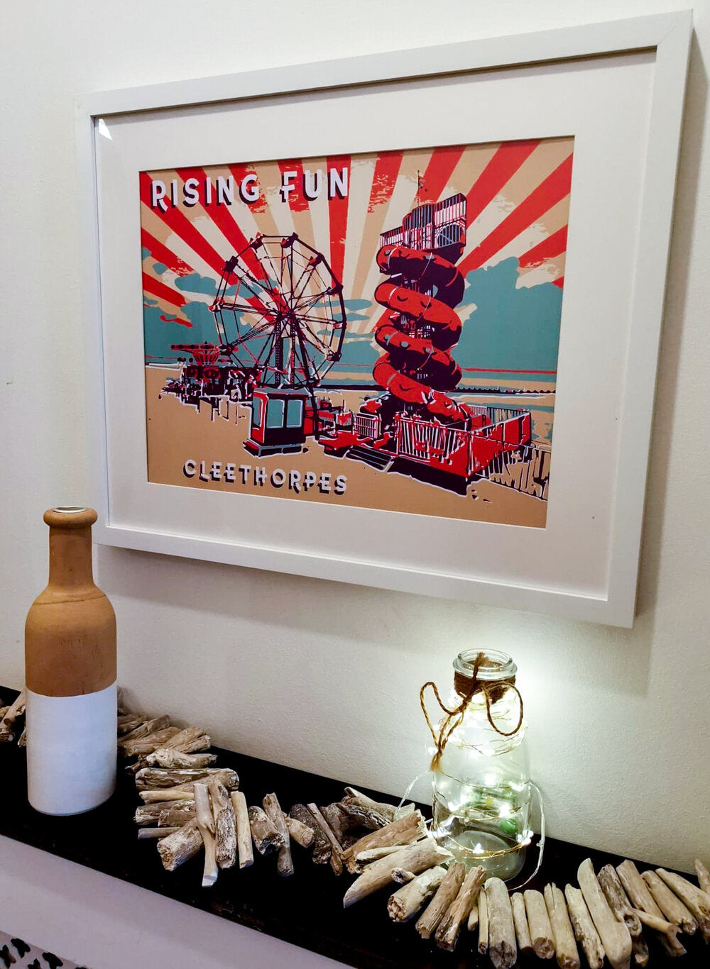 Rising Fun Framed Art. Original Art By BYGO