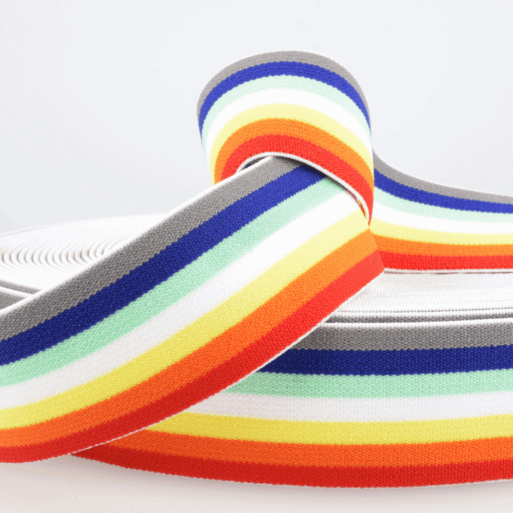 Elastic: Stripes: Rainbow