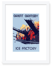 Load image into Gallery viewer, Ice Factory Framed Art. Original Art by BYGO