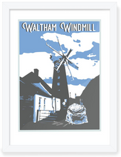 Load image into Gallery viewer, Waltham Windmill Framed Art Work.  Original Art by BYGO