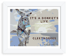 Load image into Gallery viewer, It's a Donkeys Life Framed Art. Original Art by BYGO