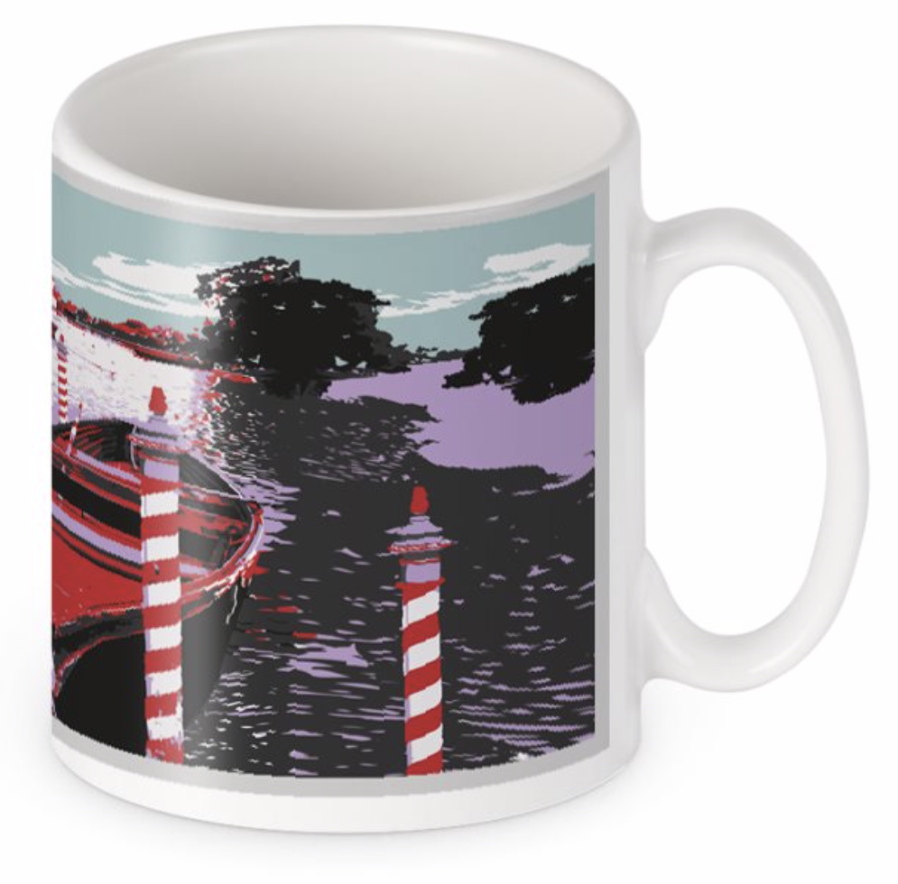 Original BYGO Art Red Cleethorpes Boating Mug