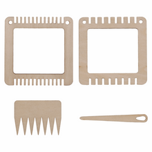 Load image into Gallery viewer, Weaving Set: Two Small Frames, Comb & Needle