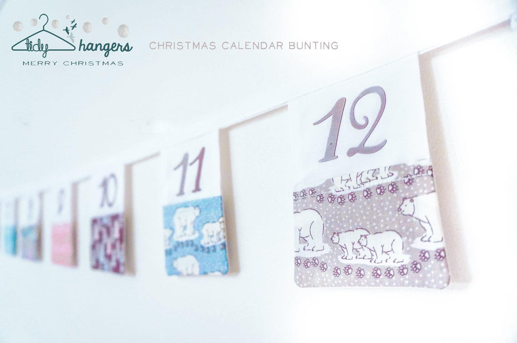 T & A Handmade Christmas Advent Pocket Bunting