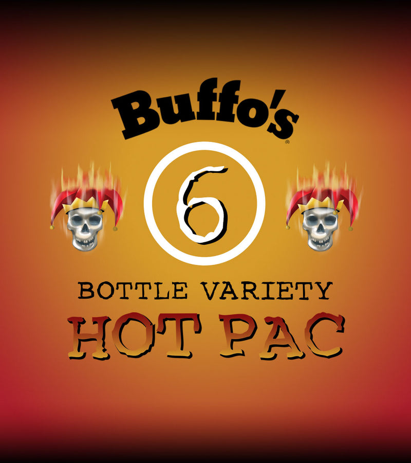 Buffo's 6-Bottle Variety Hot Pac