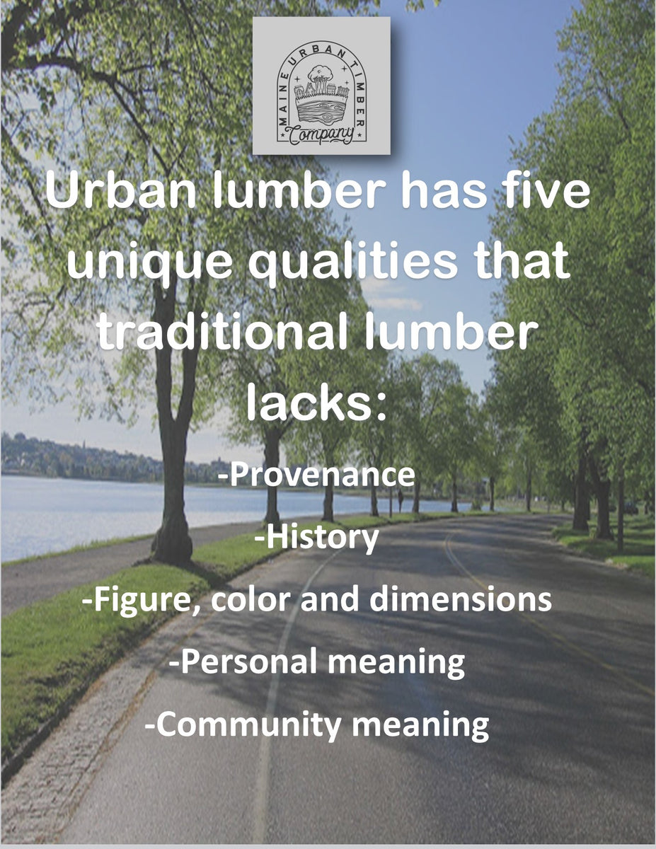 urban lumber characteristics - better than commercial lumber