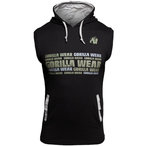 Melbourne S/L Hooded T-Shirt - Schwarz