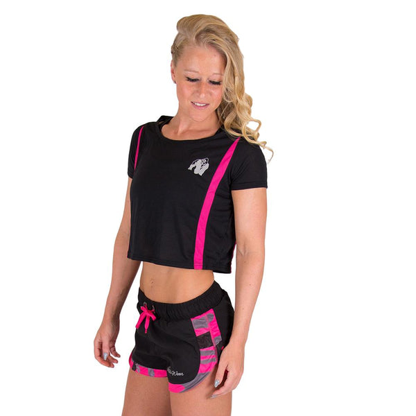 Columbia Crop Top - Schwarz/Pink
