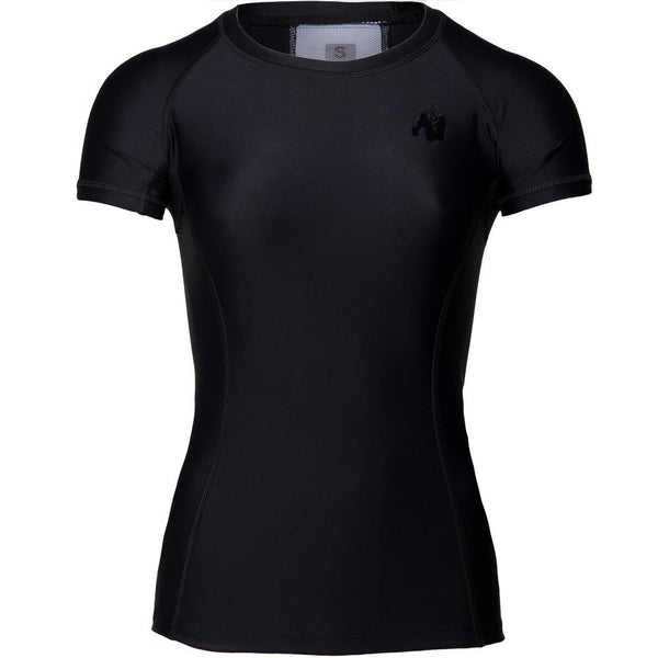 Carlin Compression Short Sleeve Top - Schwarz/Schwarz