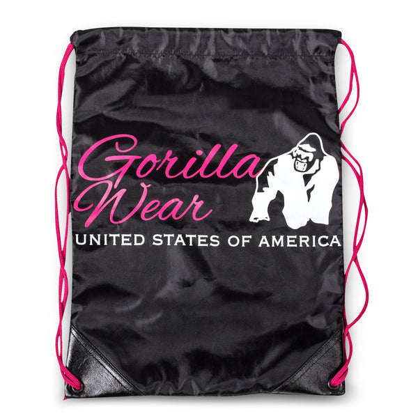 GORILLA WEAR DRAWSTRING BAG SCHWARZ/PINK