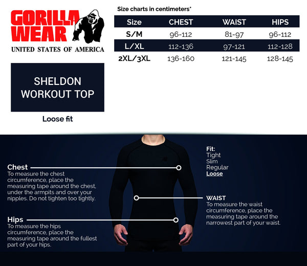 Sheldon Work Out Top - Schwarz