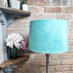 Teal glaze used to create a textured finish