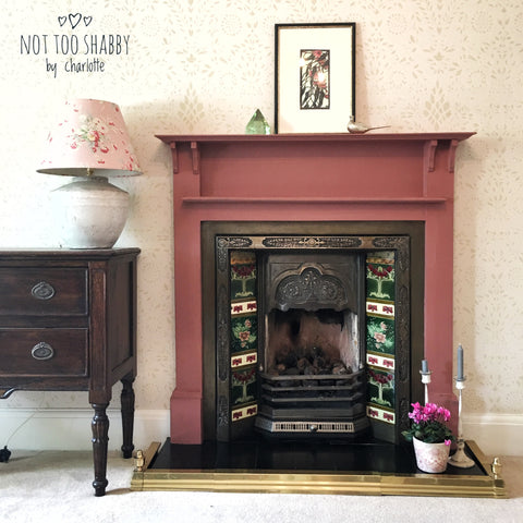 Enchanted Echinacea victorian tiled fireplace