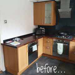 Beech kitchen before picture