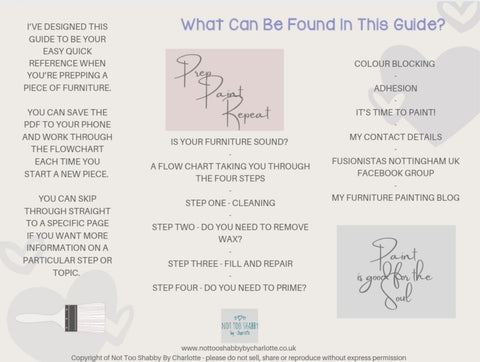 Free Furniture Prep Guide Contents Page