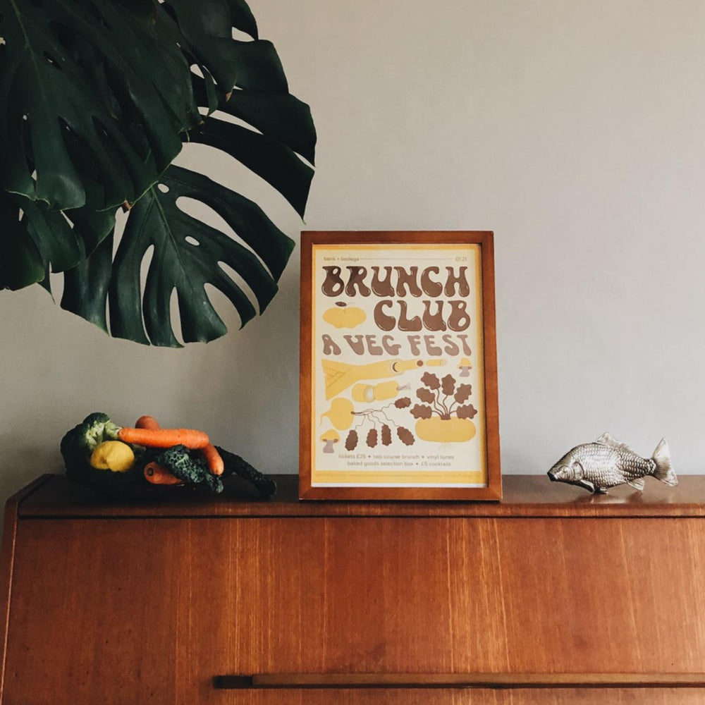 Benk + Bodega X Sarah Cliff Brunch Club Poster