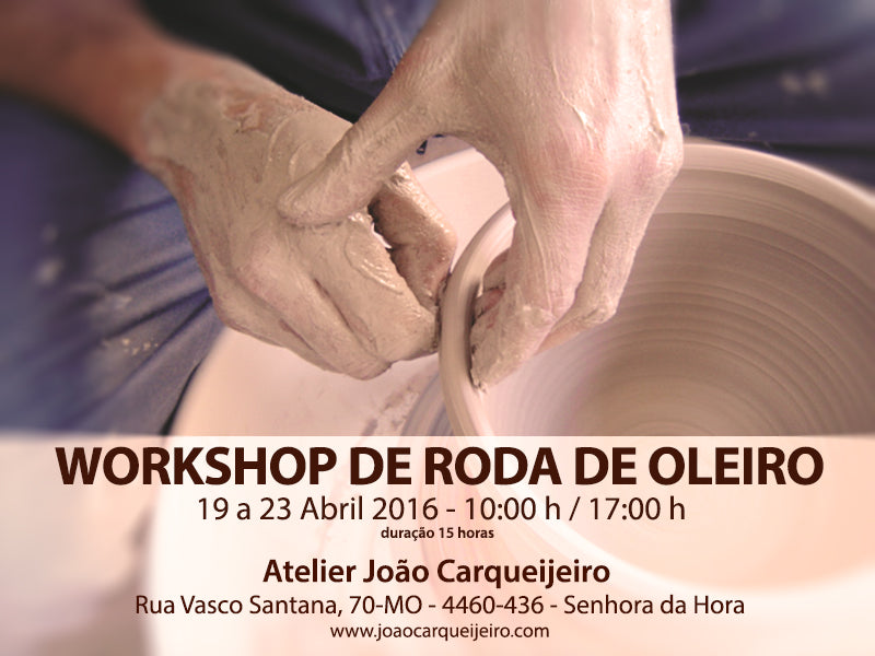 Promotional poster for João Carqueijeiro's ceramic workshop