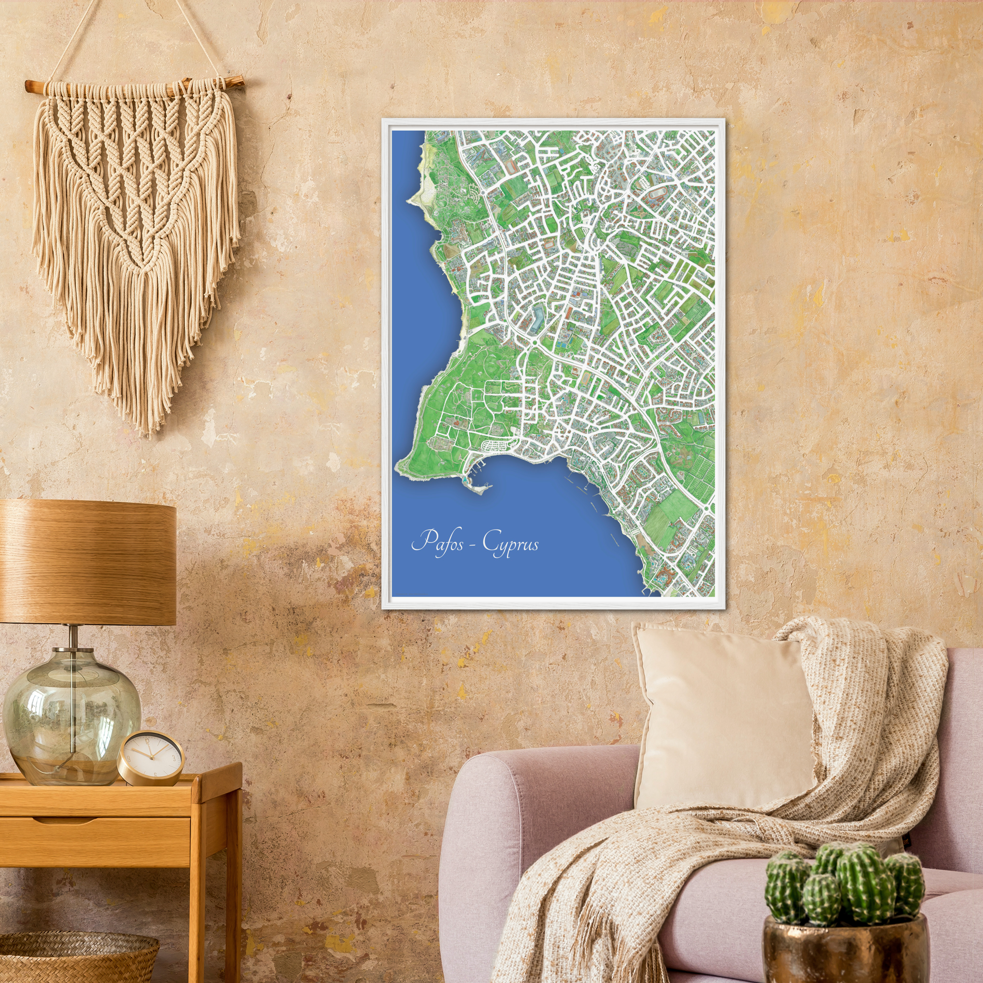 Pafos, Cyprus – Color Print – Wooden Framed Poster