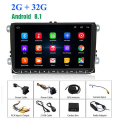 Android 8.1 Car Multimedia Player GPS Radio