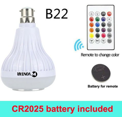 12W RGB Bulb LED and Speaker