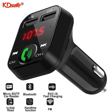Wireless Car kit Handfree LCD FM Transmitter