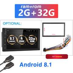 Android 9.1 2 Din Car radio Multimedia GPS Player
