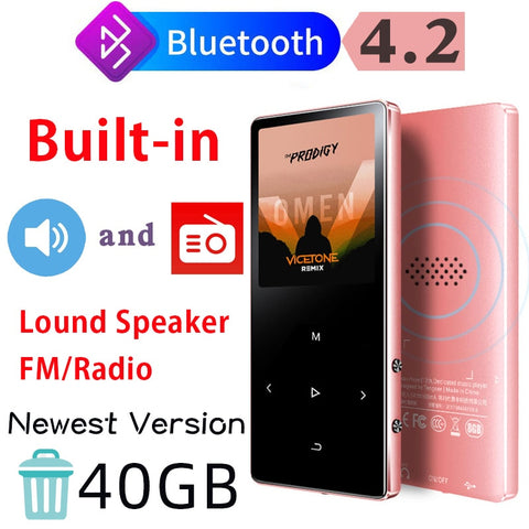 Bluetooth 4.2 Lossless MP3 Player 40GB HiFi