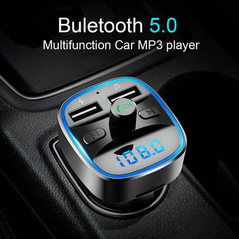 Bluetooth 5.0 receiver FM transmitter Dual USB