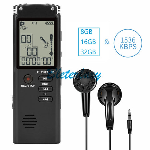 8GB/16GB/32GB Voice Recorder USB Professional 96 Hours