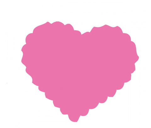 Heart: Scallop Pink