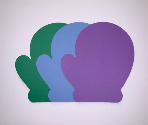 Mittens: Multipack, Green, Purple, and Blue