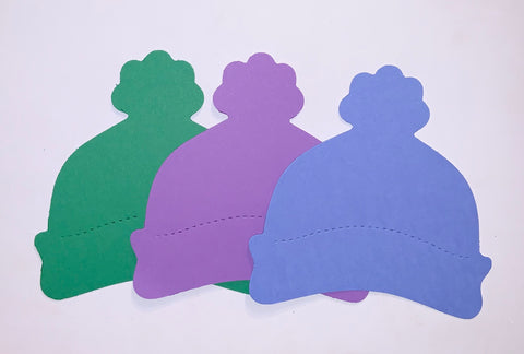 Hats: Multipack, Green, Purple, and Blue