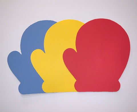 Mittens: Multipack, Blue, Yellow, Red