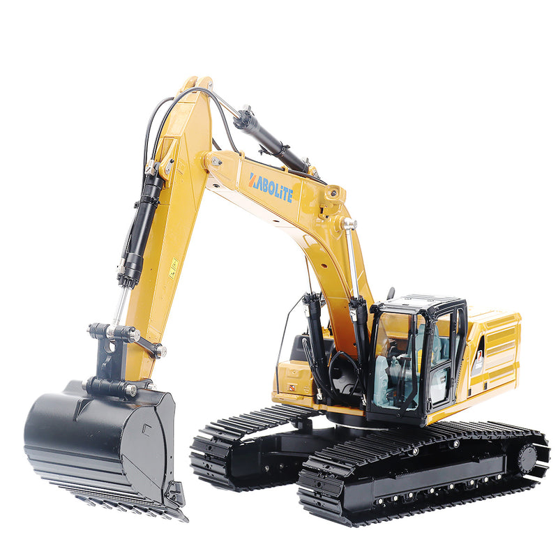 Hydraulic excavator by huina with white background