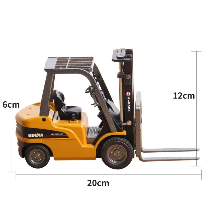 Huina 1717 1:50 Alloy Diecast Forklift size