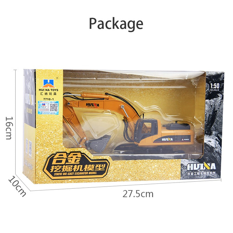 Huina 1710 1:50 Alloy Diecast Excavator in open box