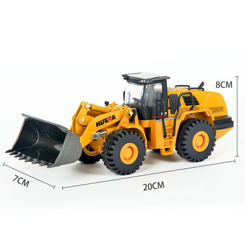Huina 1714 1:50 Wheel Loader Size